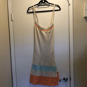 NWT Lacoste Tennis Dress - Tan, Orange and Blue